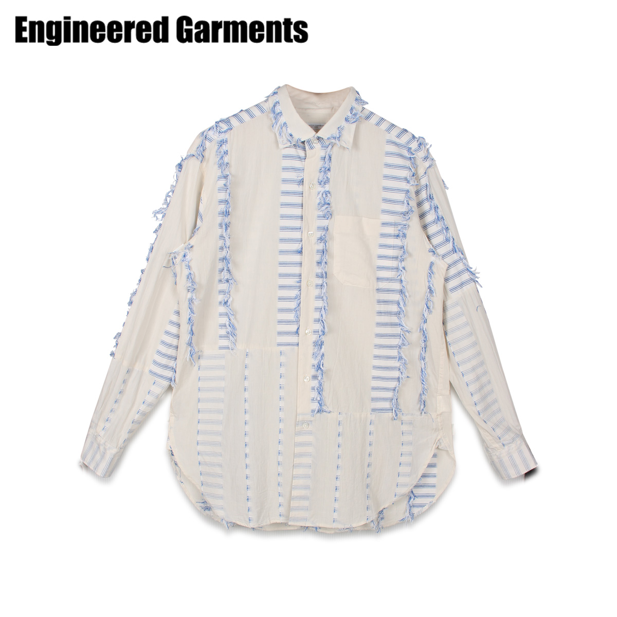 ENGINEERED GARMENTS エンジニアドガーメンツ シャツ 長袖 オックスフォードシャツ メンズ SPREAD COLLAR SHIRT ホワイト 白 20S1A013