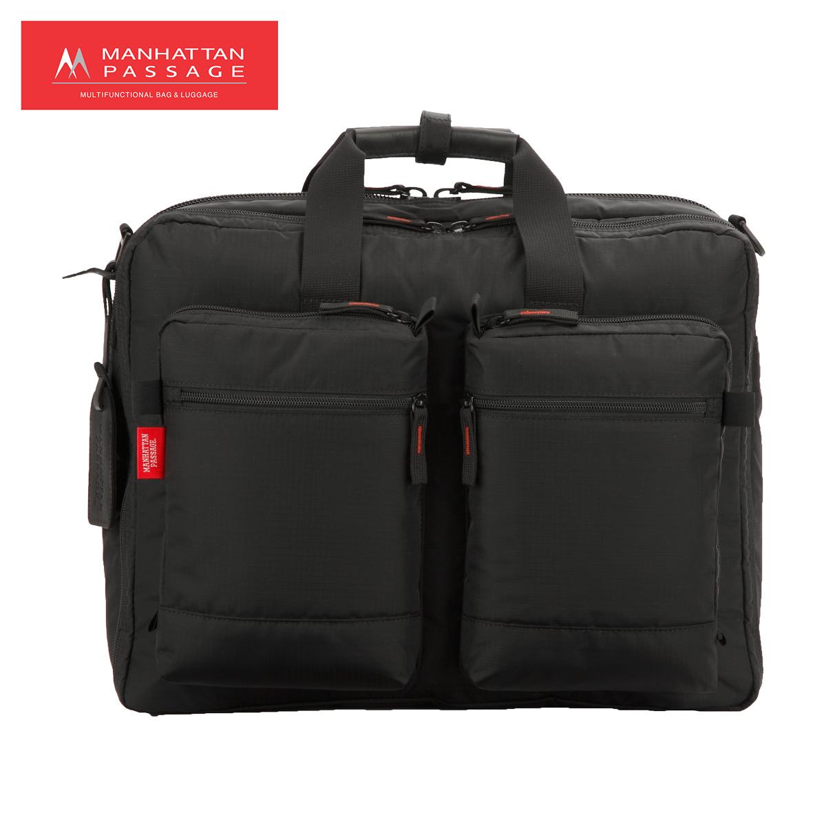 MANHATTAN PASSAGE マンハッタンパッセージ バッグ ショルダーバッグ ビジネスバッグ ブリーフケース メンズ 22L BUSINESS STRIPPER ブラック 黒 2190 [4/10 新入荷]