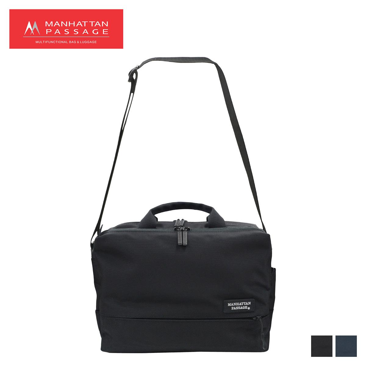 MANHATTAN PASSAGE マンハッタンパッセージ バッグ ショルダーバッグ ビジネスバッグ ブリーフケース メンズ 6.5L SHOULDER BAG EST 2 ブラック ネイビー 黒 5485 [4/10 新入荷]