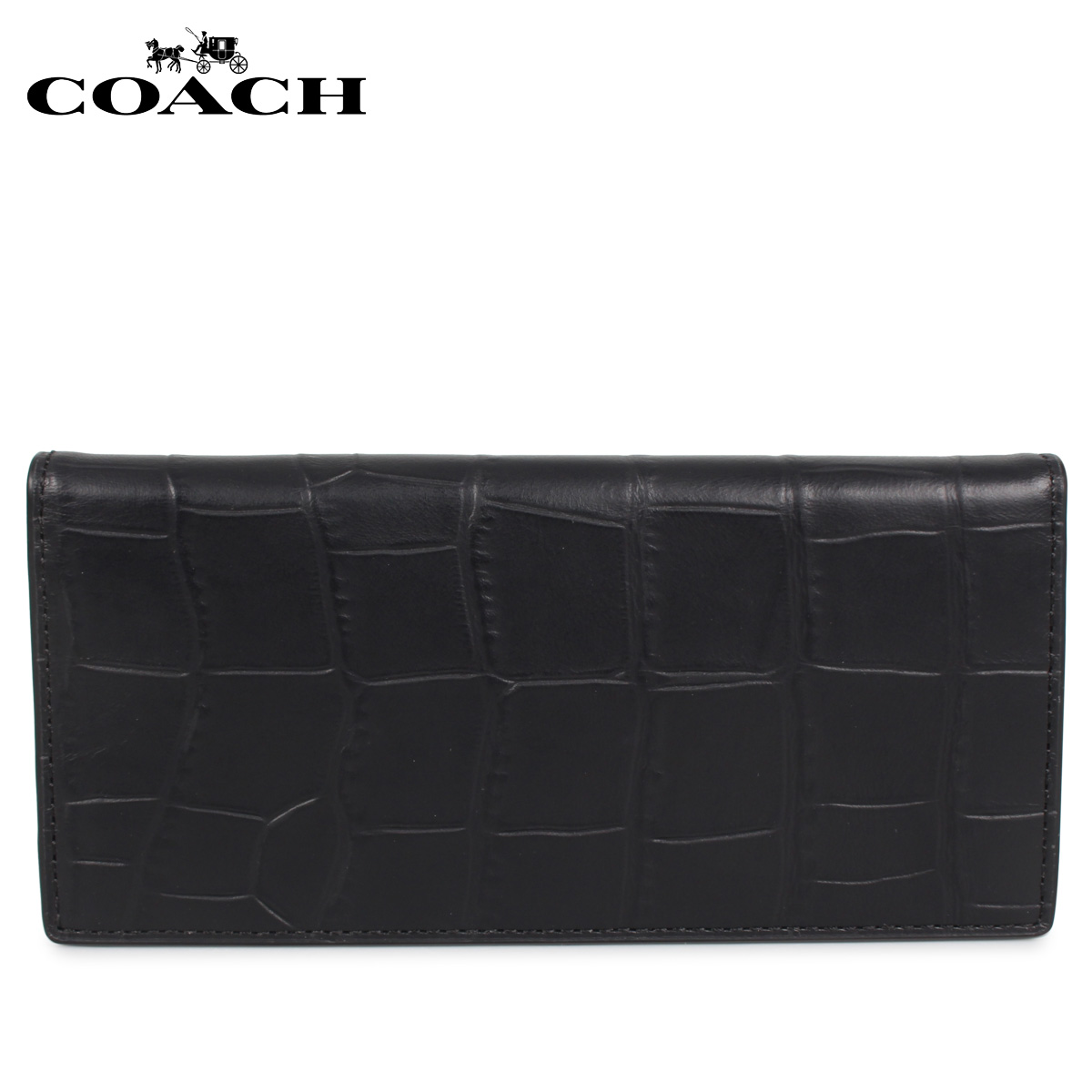 COACH コーチ 財布 長財布 メンズ レディース ブラック 黒 F73134 [3/10 新入荷]