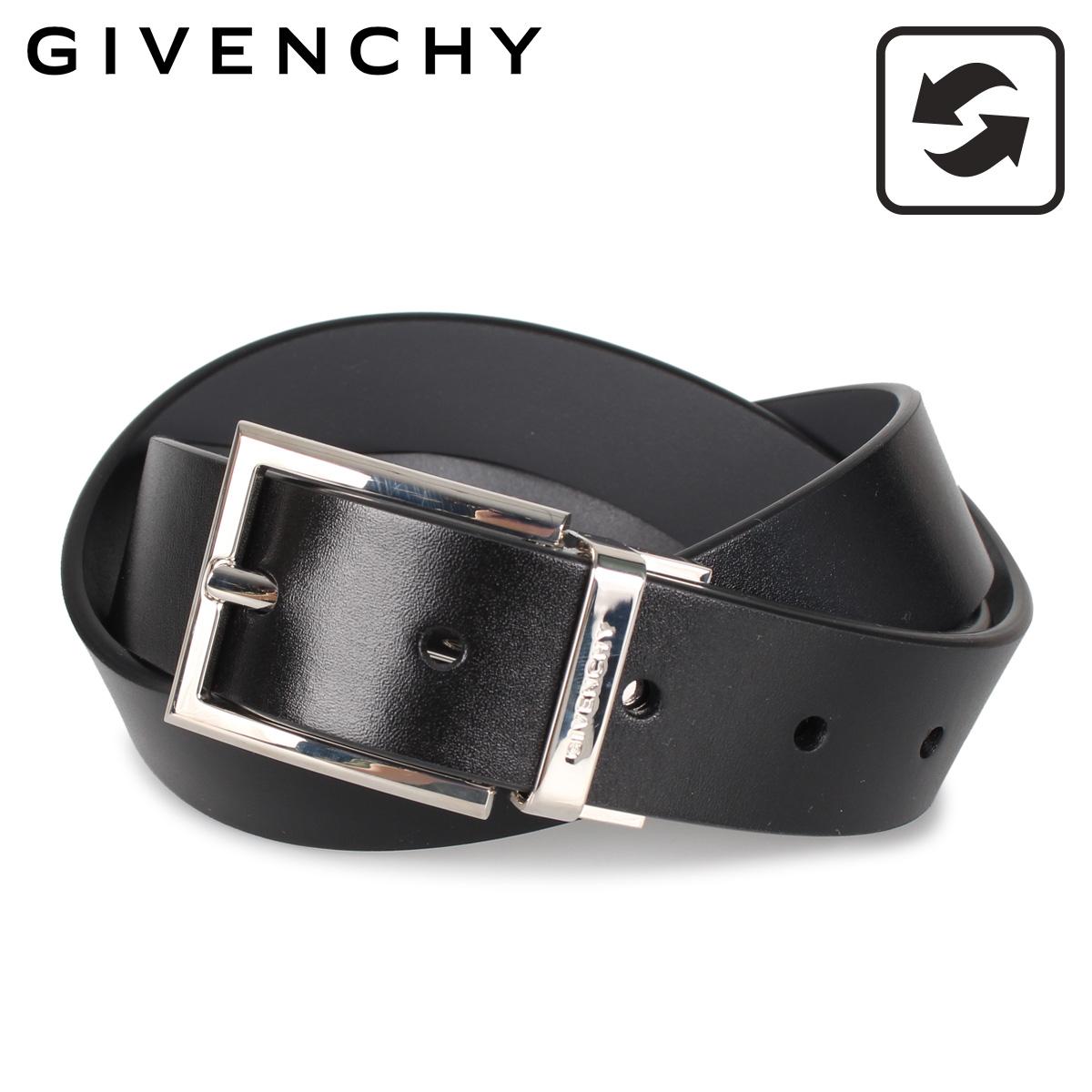 GIVENCHY ジバンシィ ベルト レザーベルト メンズ 本革 レザー リバーシブル ブラック グレー 黒 BK401K [3/9 新入荷]