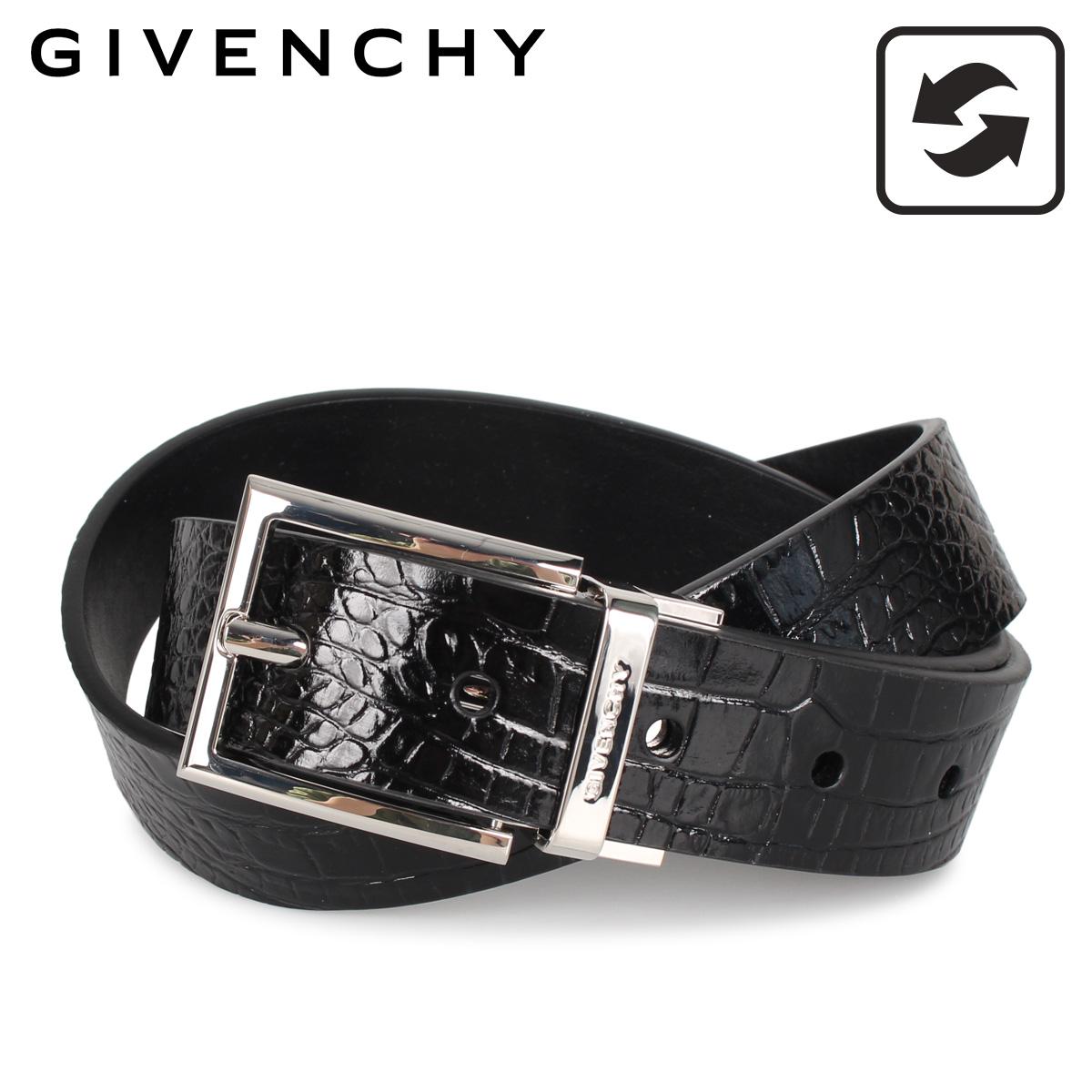 GIVENCHY ジバンシィ ベルト レザーベルト メンズ 本革 レザー リバーシブル ブラック 黒 BK401K [3/9 新入荷]