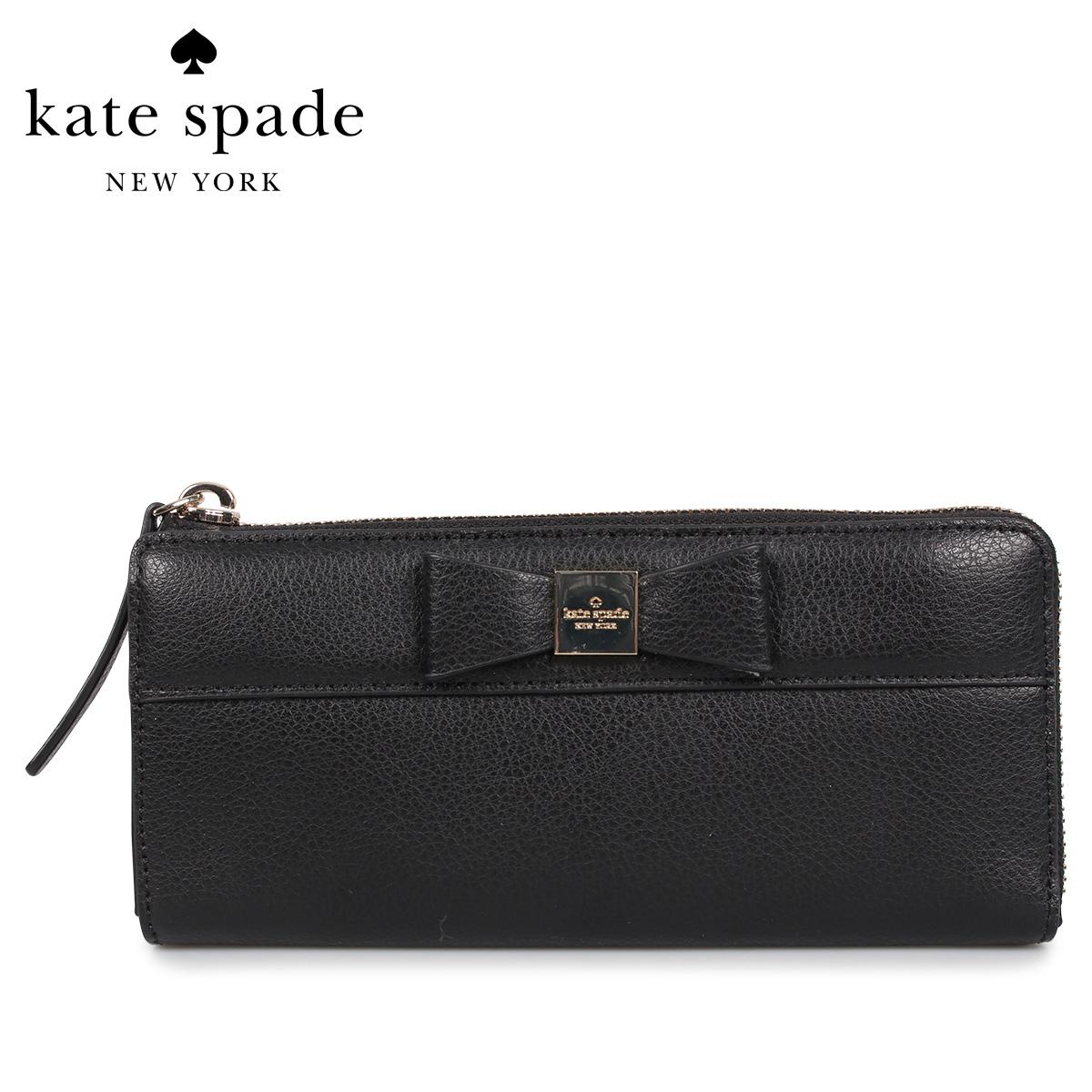 kate spade ケイトスペード 財布 長財布 レディース NISHA ブラック 黒 WLRU4967 [3/13 新入荷]