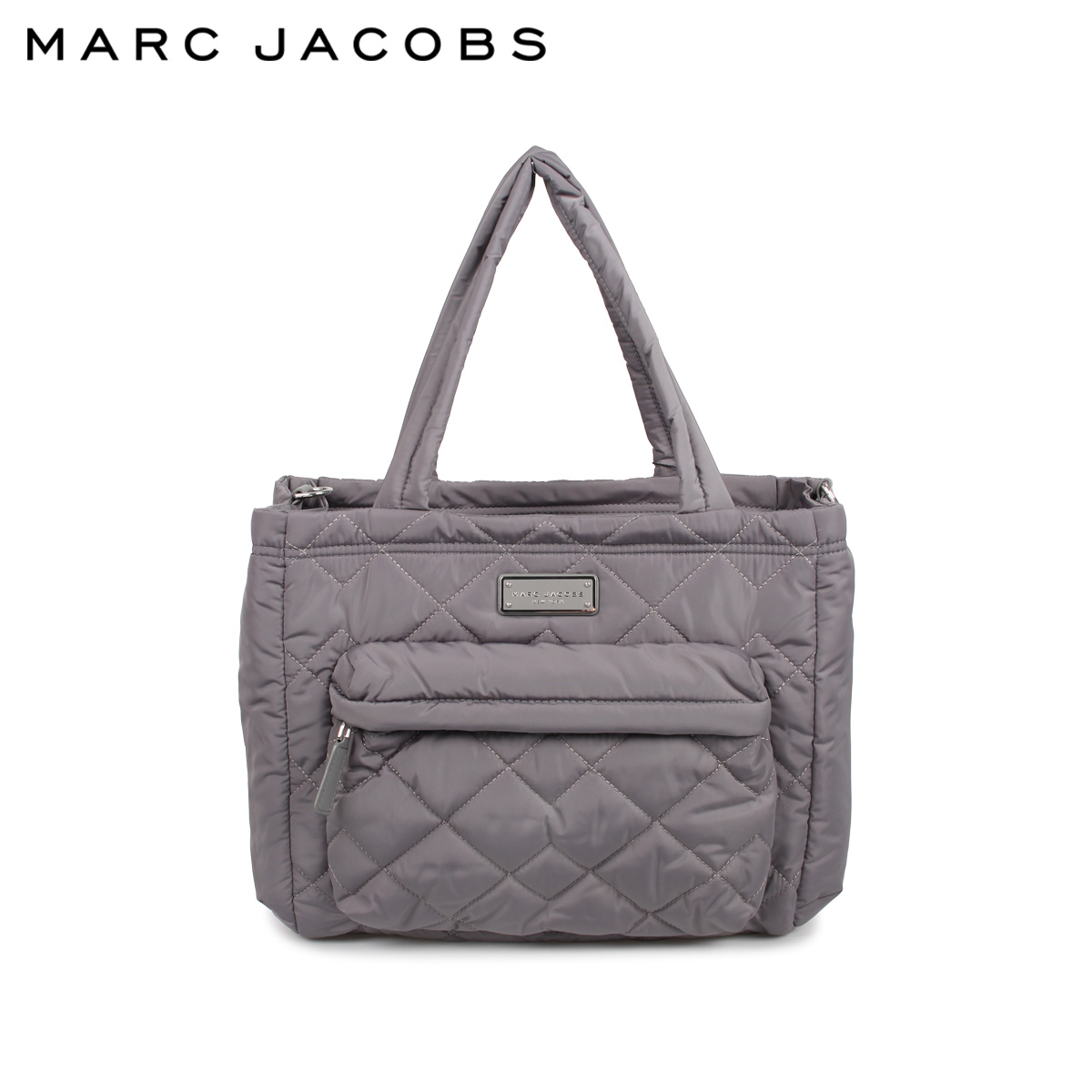 MARC JACOBS マークジェイコブス バッグ トートバッグ ショルダー レディース QUILTED TOTE グレー M0011380-097 [3/10 新入荷]