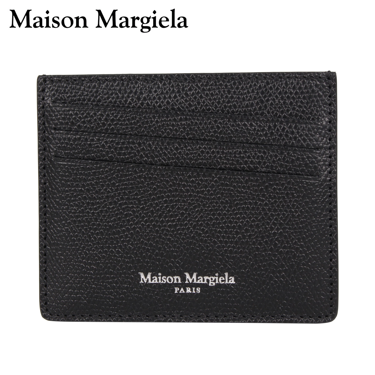 MAISON MARGIELA メゾンマルジェラ カードケース 名刺入れ 定期入れ メンズ レディース CARD CASE ブラック 黒 S35UI0432-T8013 [3/4 新入荷]