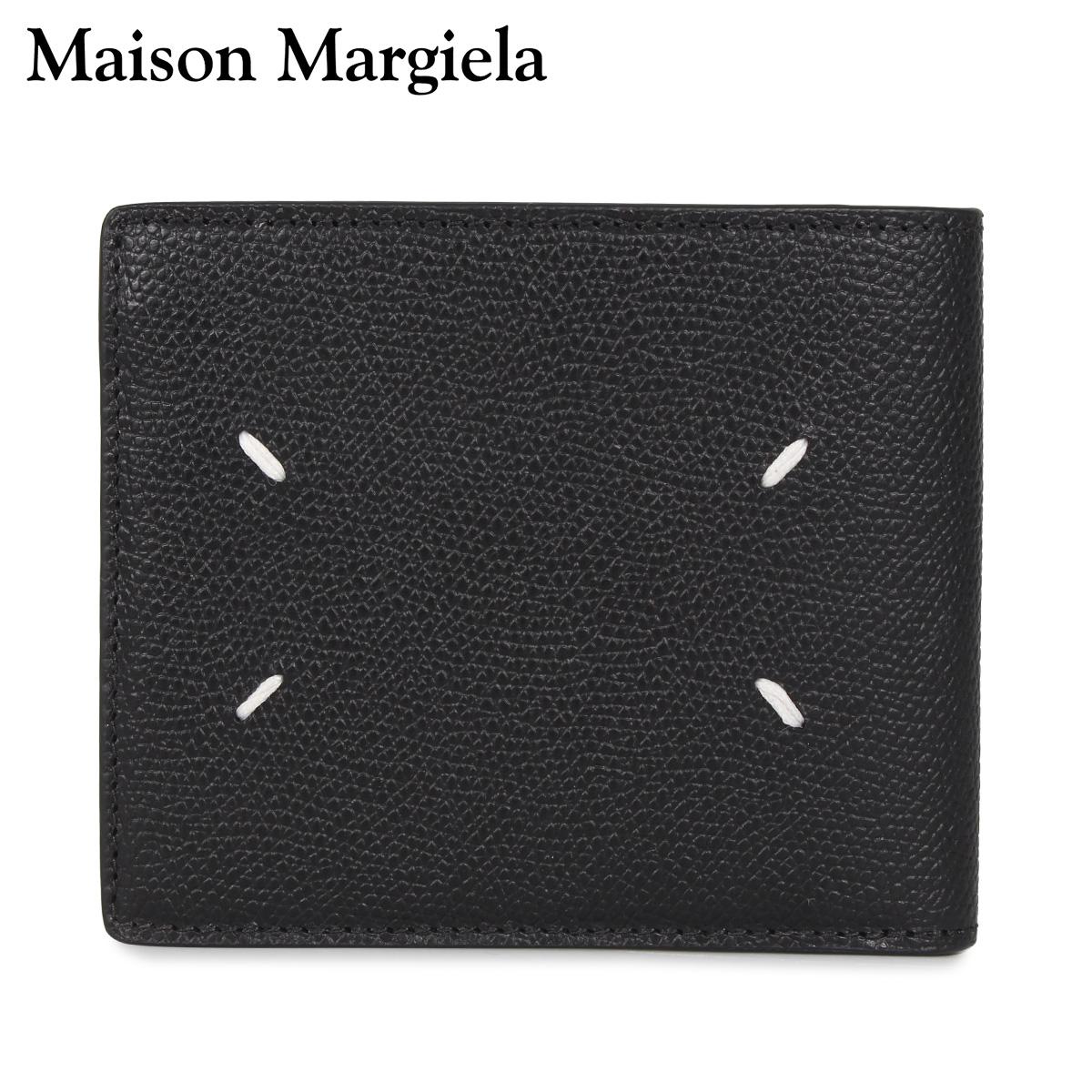 MAISON MARGIELA メゾンマルジェラ 財布 二つ折り メンズ レディース WALLET ブラック 黒 S35UI0435-T8013 [3/4 新入荷]