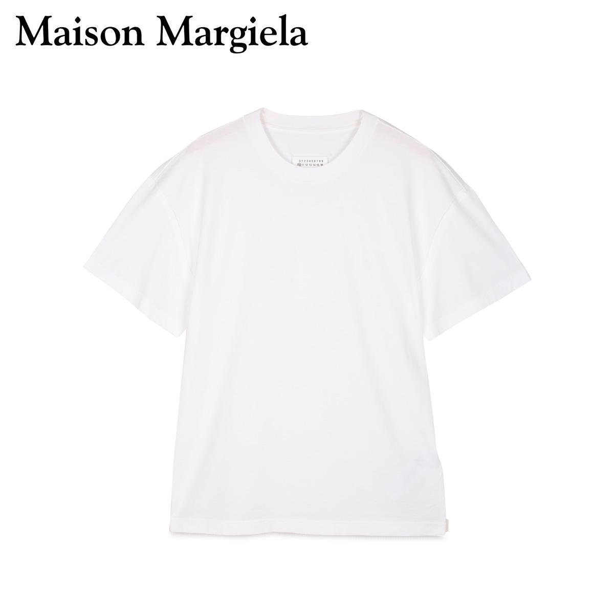 MAISON MARGIELA メゾンマルジェラ Tシャツ 半袖 メンズ T SHIRT ホワイト 白 S50GC0600-100