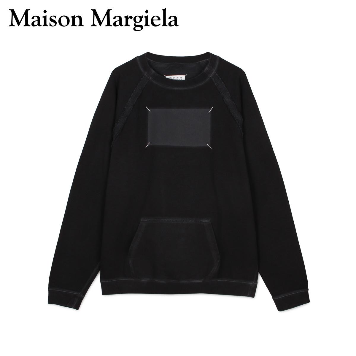 MAISON MARGIELA メゾンマルジェラ トレーナー スウェット プルオーバー クルーネック メンズ SWEAT ブラック 黒 S50GU0138-900
