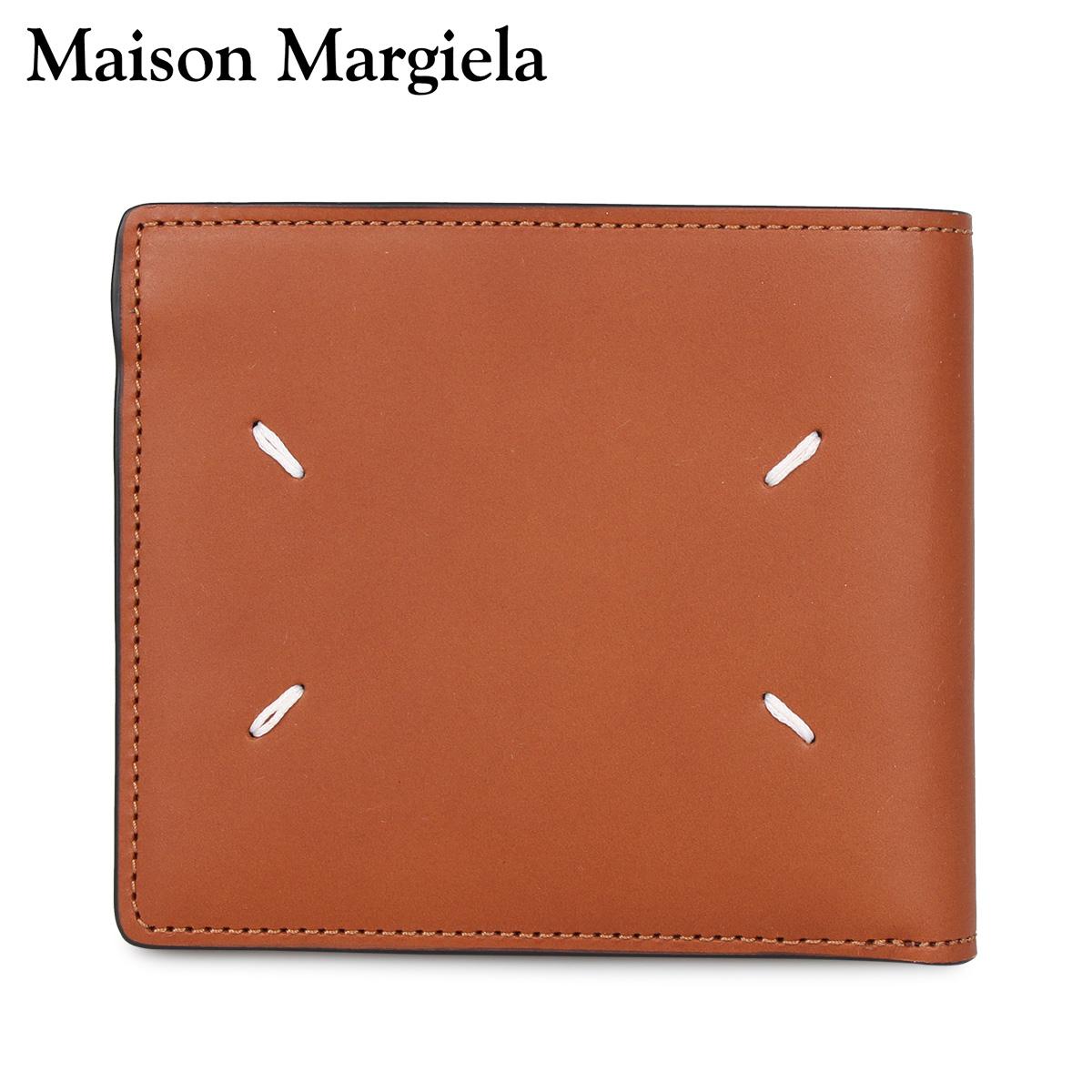 MAISON MARGIELA メゾンマルジェラ 財布 二つ折り メンズ レディース WALLET ブラウン S55UI0205-T2262 [3/4 新入荷]