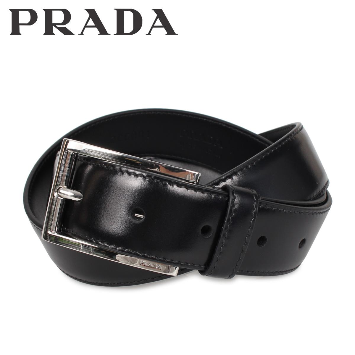 PRADA プラダ ベルト レザーベルト メンズ VITELLO LUX ブラック 黒 2CC001-X72 [3/9 新入荷]