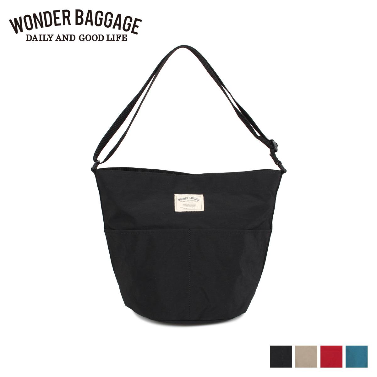 WONDER BAGGAGE ワンダーバゲージ バッグ ショルダーバッグ メンズ レディース 14.2L SUNNY FUN DAY SHOULDER ブラック ベージュ レッド ターコイズ 黒 [4/6 新入荷]