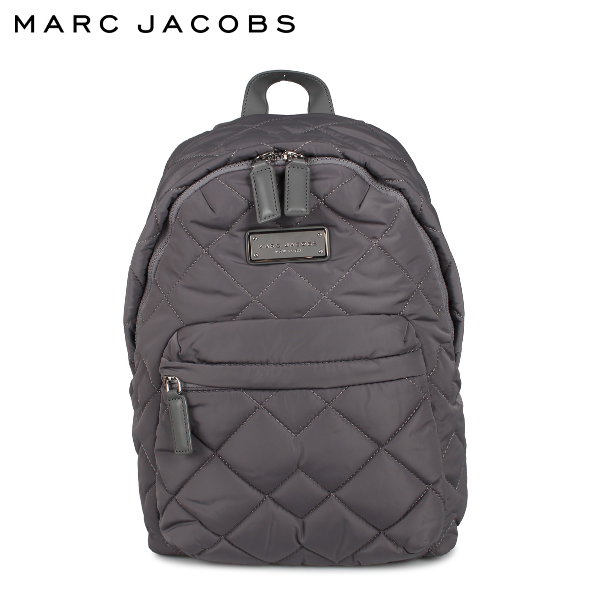 MARC JACOBS マークジェイコブス リュック バッグ バックパック レディース QUILTED BACKPACK グレー M0011321-097 [4/27 新入荷]