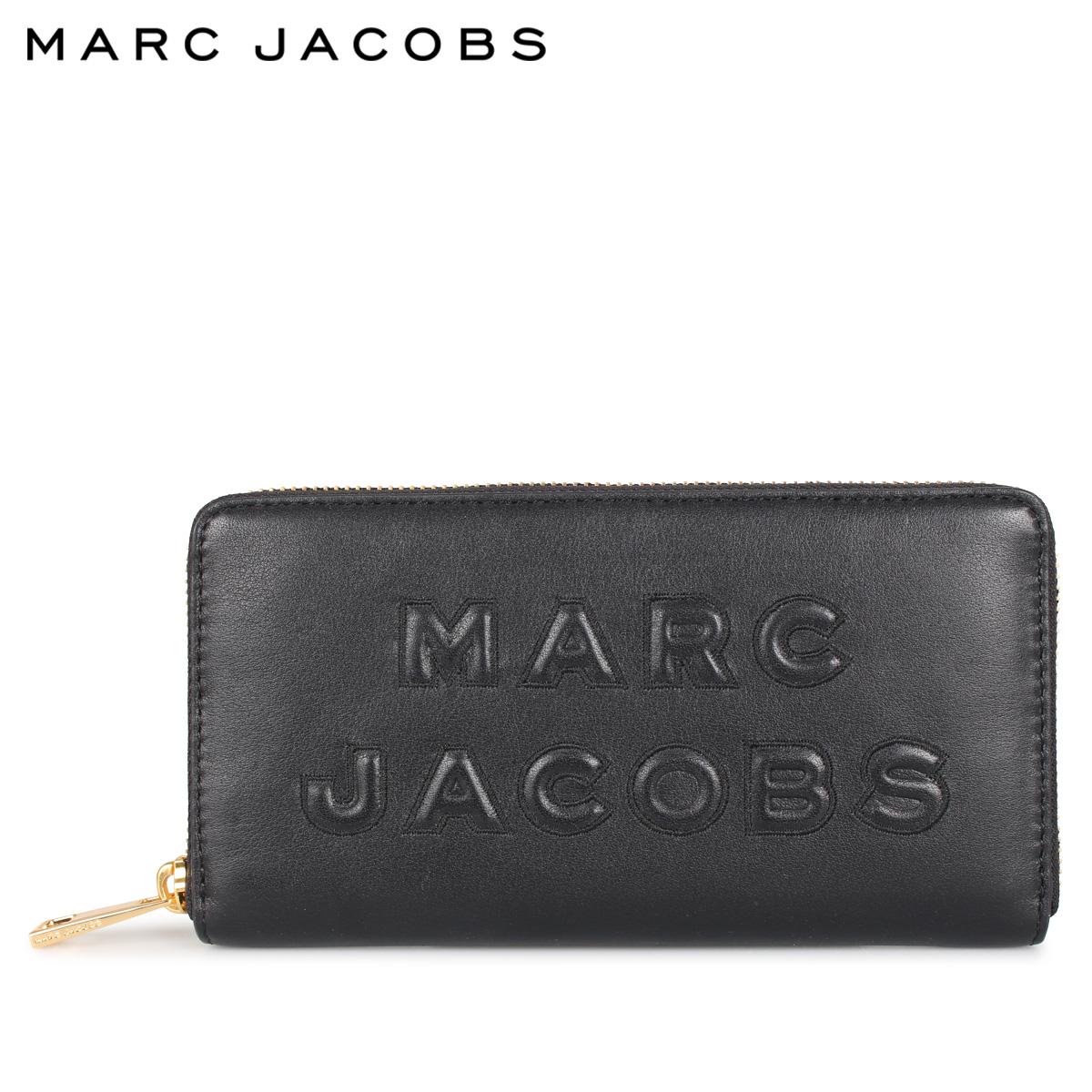 MARC JACOBS マークジェイコブス 財布 長財布 レディース ラウンドファスナー WALLET ブラック 黒 M0015683-001 [4/27 新入荷]