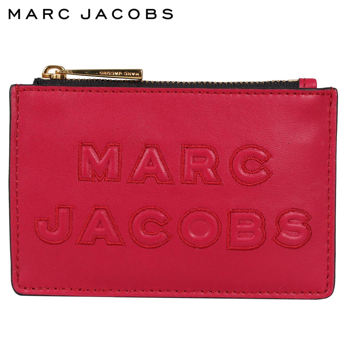 MARC JACOBS マークジェイコブス パスケース カードケース ID 定期入れ 小銭入れ キーケース レディース CARD CASE レッド M0015753-616 [4/27 新入荷]