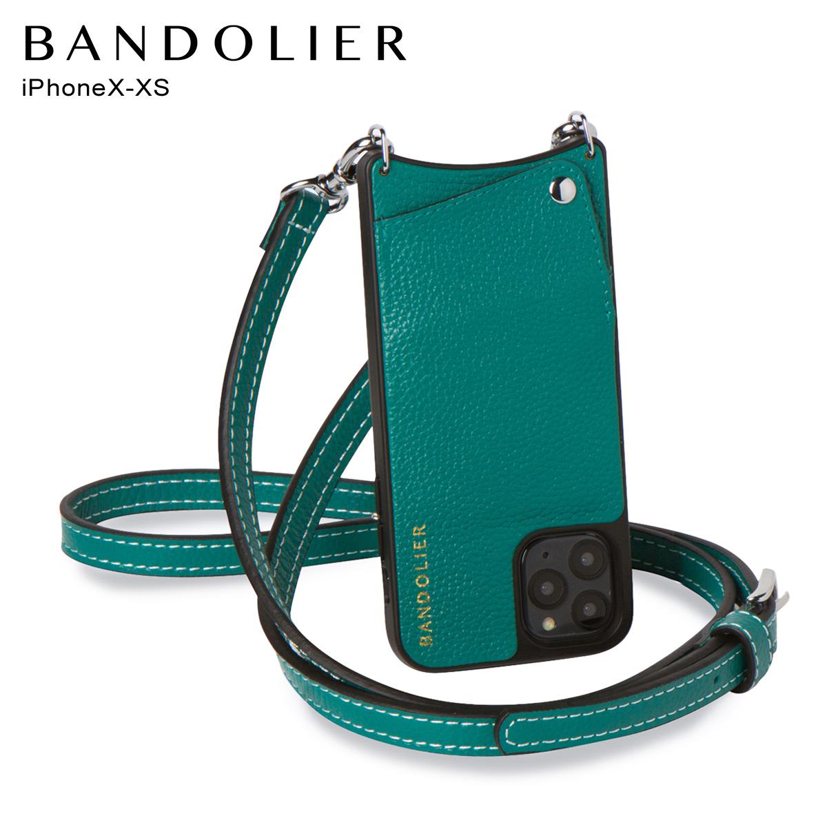 バンドリヤー BANDOLIER iPhone XS X ケース スマホ 携帯 ショルダー アイフォン ケイシー メンズ レディース CASEY グリーン 10CAS [4/13 新入荷]