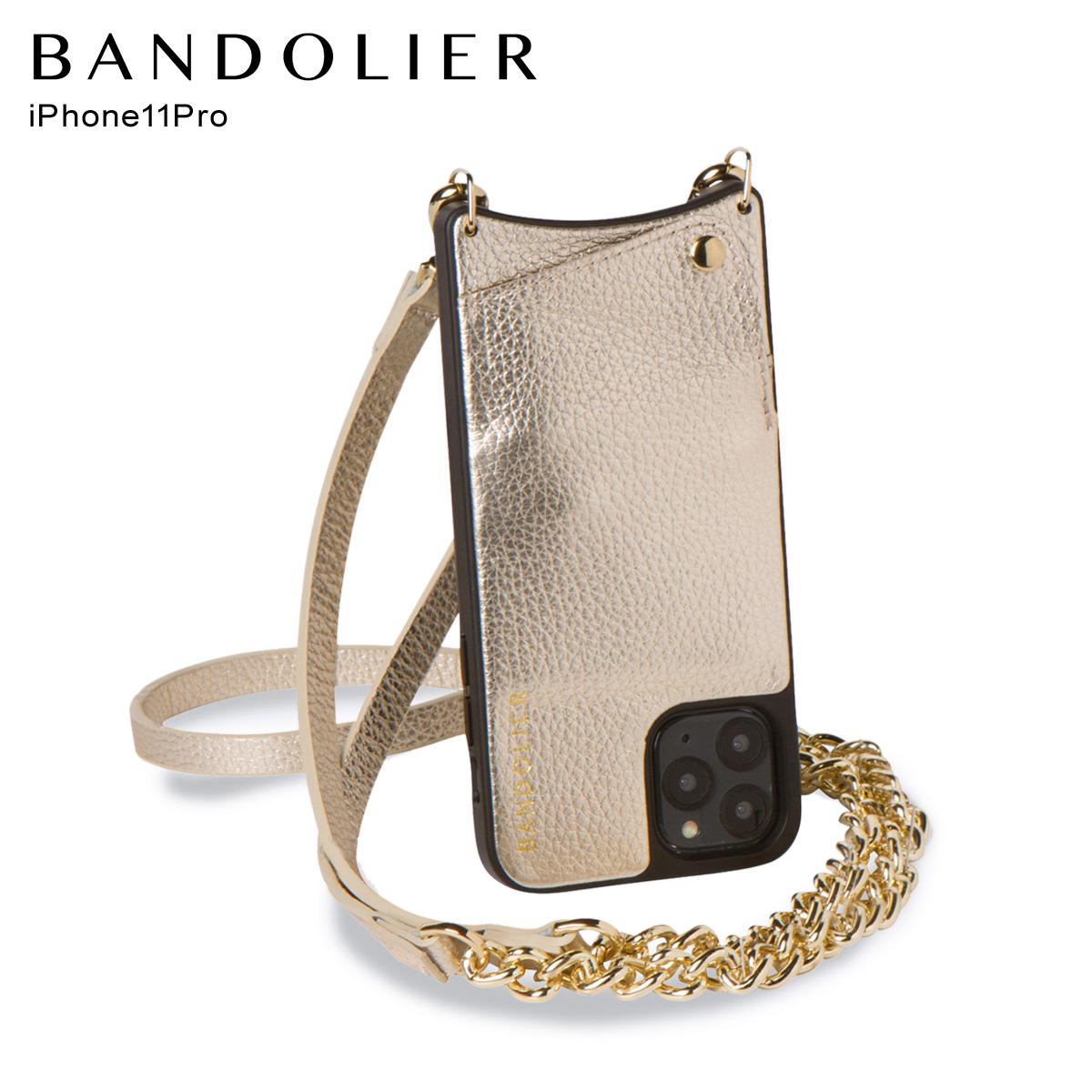 バンドリヤー BANDOLIER iPhone11 Pro ケース スマホ 携帯 ショルダー アイフォン レクシー メンズ レディース LEXI ゴールド 10LEX