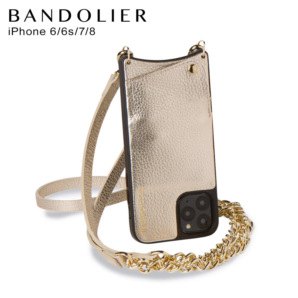 バンドリヤー BANDOLIER iPhone8 SE iPhone 7 6s ケース スマホ 携帯 ショルダー アイフォン レクシー メンズ レディース LEXI ゴールド 10LEX [4/13 新入荷]
