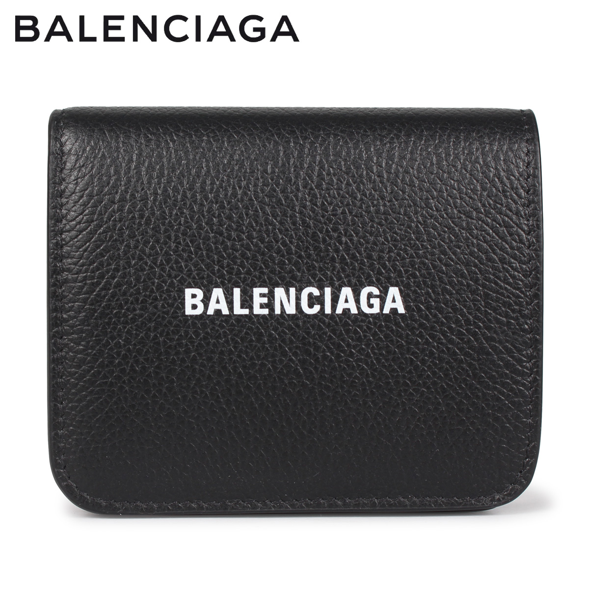 BALENCIAGA バレンシアガ 財布 二つ折り ミニ財布 メンズ レディース COIN AND CARD FLAP ブラック 黒 594216 [4/14 新入荷]