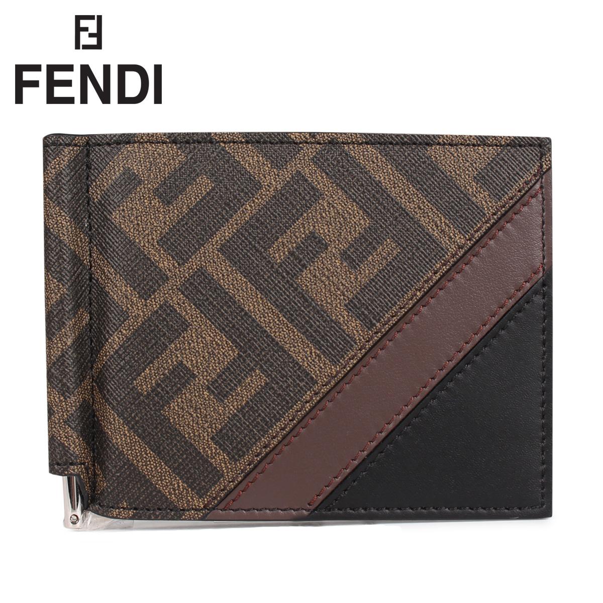FENDI フェンディ 財布 二つ折り マネークリップ メンズ 二つ折り MONEY CLIP WALLET ブラウン 7M0281 [4/14 新入荷]