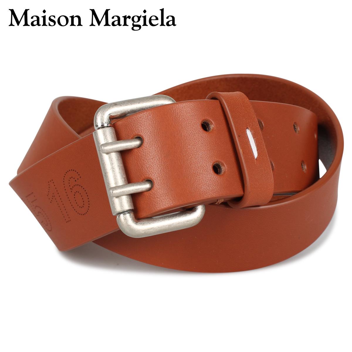 MAISON MARGIELA メゾンマルジェラ ベルト レザーベルト メンズ レディース BELT ブラウン S55TP0119 [4/15 新入荷]