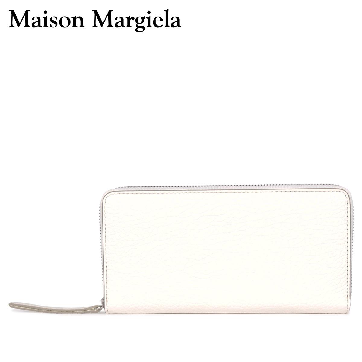 MAISON MARGIELA メゾンマルジェラ 財布 長財布 メンズ レディース ラウンドファスナー LONG WALLET ホワイト 白 S56UI0110 [4/13 新入荷]