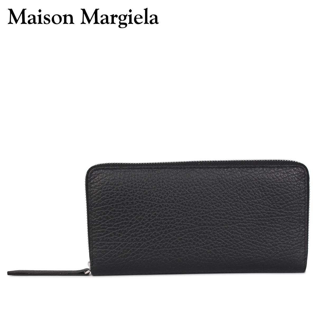 MAISON MARGIELA メゾンマルジェラ 財布 長財布 メンズ レディース ラウンドファスナー LONG WALLET ブラック 黒 S56UI0110 [4/13 新入荷]
