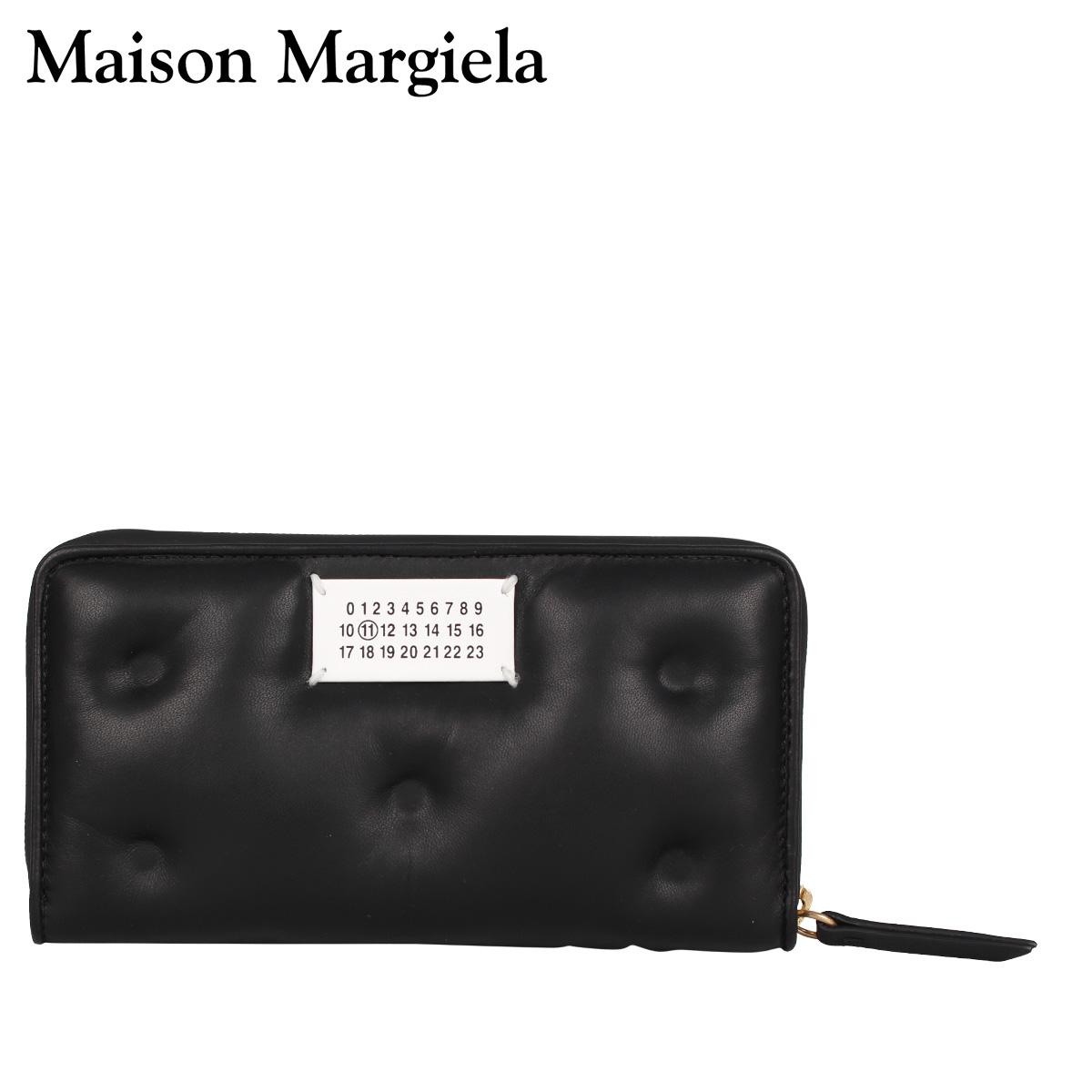 MAISON MARGIELA メゾンマルジェラ 財布 長財布 メンズ レディース ラウンドファスナー LONG WALLET ブラック 黒 S56UI0110 [4/15 新入荷]