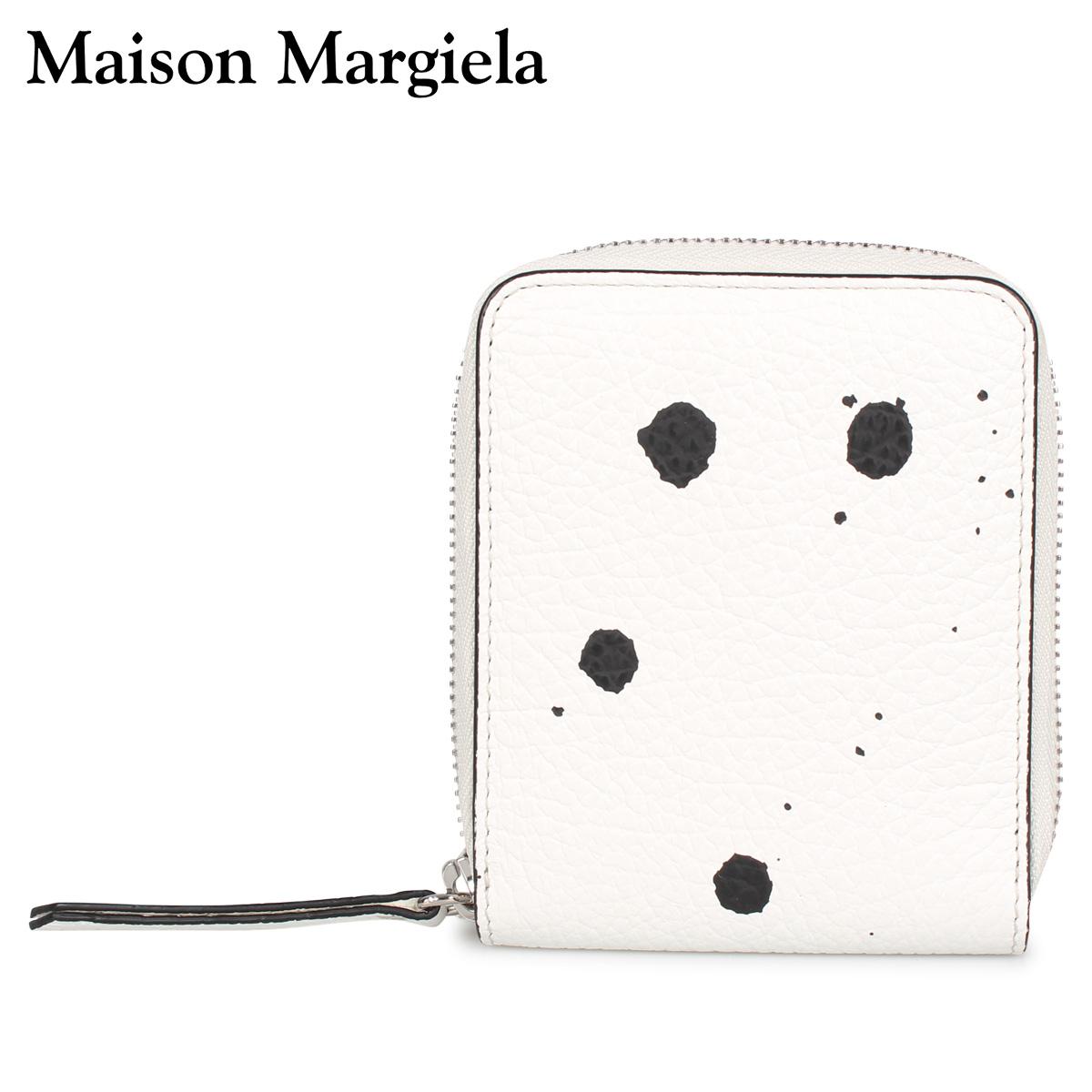 MAISON MARGIELA メゾンマルジェラ 財布 二つ折り ミニ財布 ラウンドファスナー メンズ レディース WALLET ホワイト 白 S56UI0111 [4/15 新入荷]