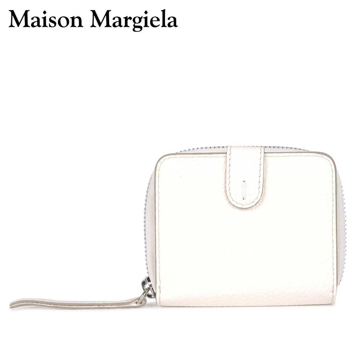 MAISON MARGIELA メゾンマルジェラ 財布 二つ折り ミニ財布 メンズ レディース ラウンドファスナー WALLET ホワイト 白 S56UI0112 [4/13 新入荷]