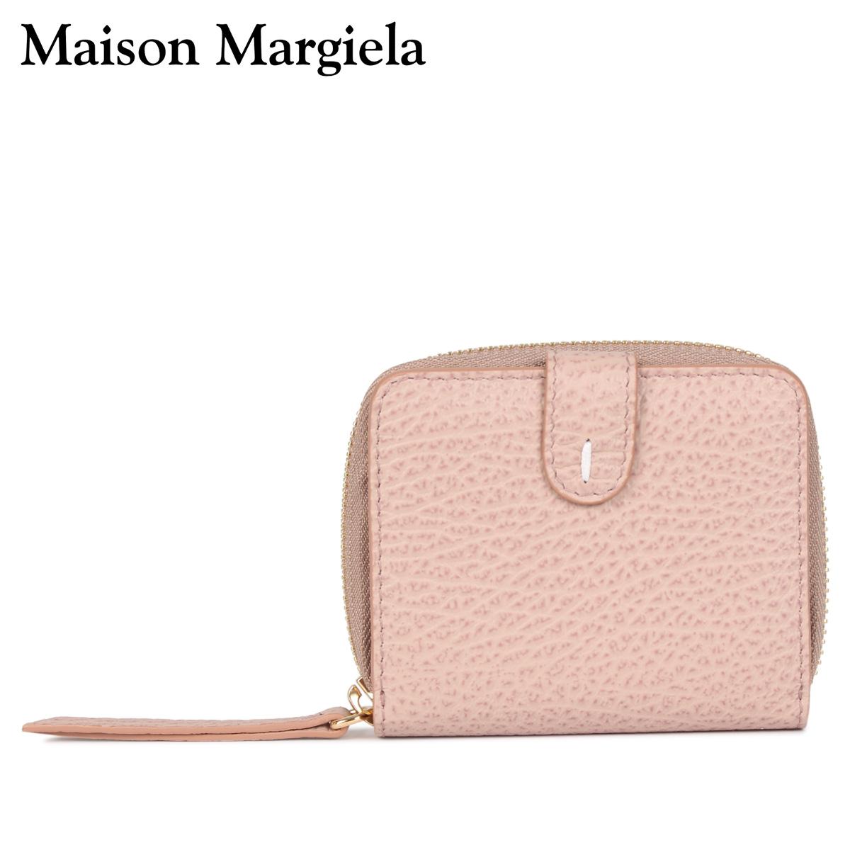 MAISON MARGIELA メゾンマルジェラ 財布 二つ折り ミニ財布 レディース ラウンドファスナー WALLET ピンク S56UI0112 [4/13 新入荷]