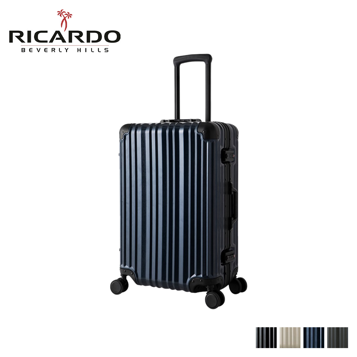 RICARDO リカルド エルロン スーツケース キャリーケース キャリーバッグ メンズ 58L AILERON ブラック グレー ネイビー 黒 AIV-24-4VP [4/13 新入荷]
