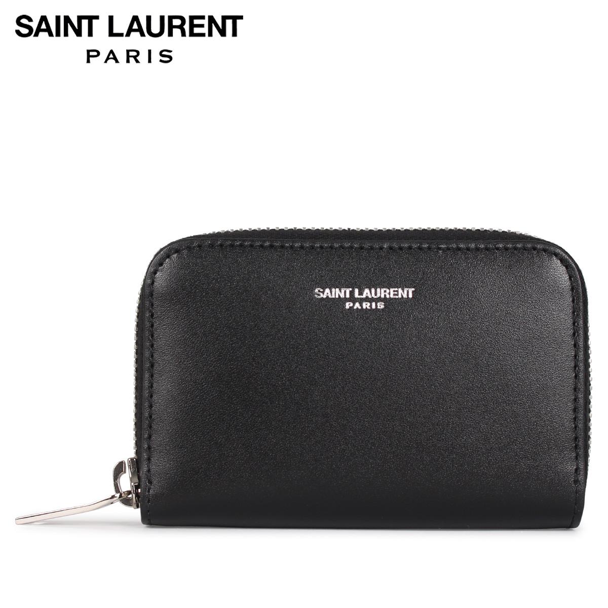 SAINT LAURENT PARIS サンローラン パリ 財布 コインケース 小銭入れ メンズ COIN CASE ブラック 黒 5065220U90N [4/14 新入荷]