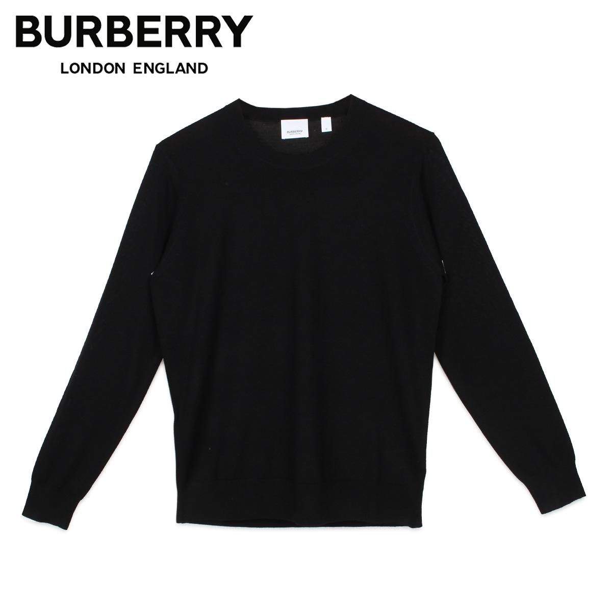 BURBERRY バーバリー ニット セーター レディース チェック ROUND NECK KNIT ブラック 黒 8017019