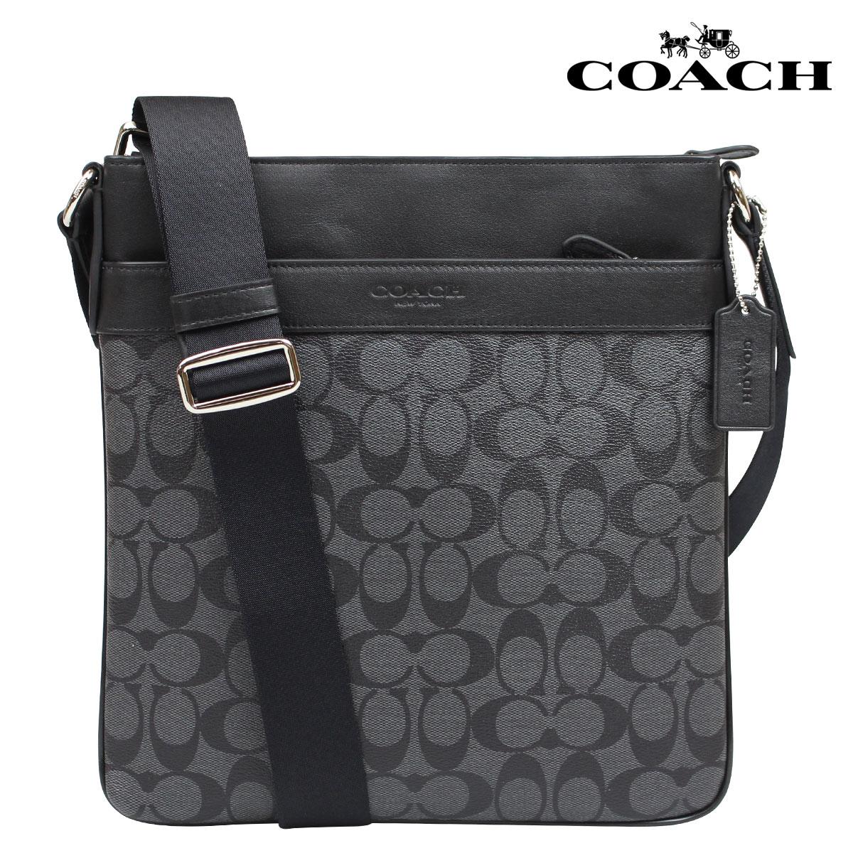 Coach Bag Shoulder Bags Mens F71877 Charcoal Black Bowery Signature Cross Body