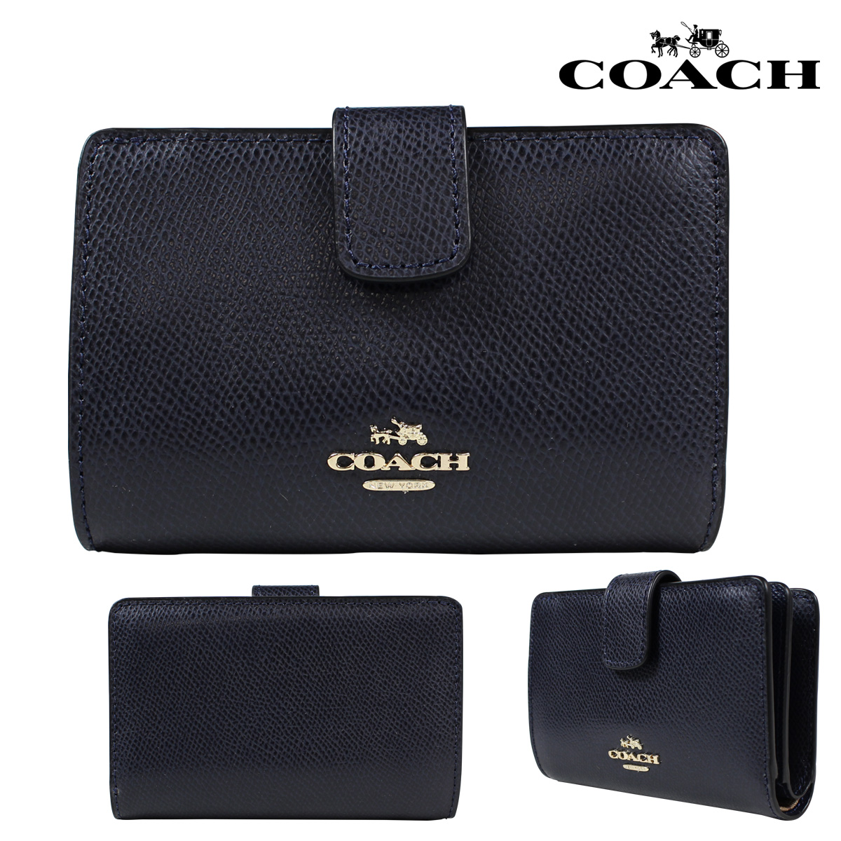 e70e0bc68781 ... norway sold out coach coach purse two bi fold wallet f54010 midnight  ladies 3cd0b 3eaca