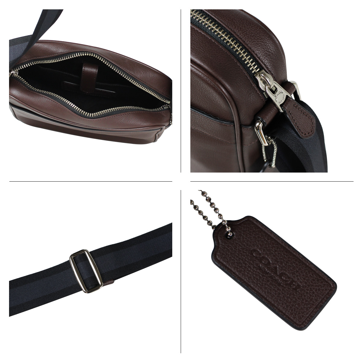 Coach Flight Bag Mahogany Adjustable Strap With 295 75 Cm Drop For Shoulder Or Crossbody Wear