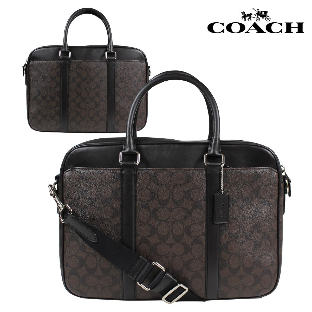 788af005a5ac COACH coach men bag business bag briefcase F54803 mahogany X brown