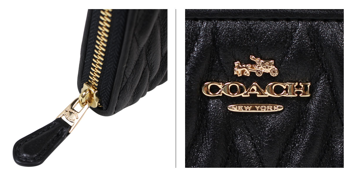 new product 44ec1 521f4 [up to 2,000 yen OFF coupon] coach wallet COACH long wallet Lady's round  fastener F54003 black [1/11 Shinnyu load]