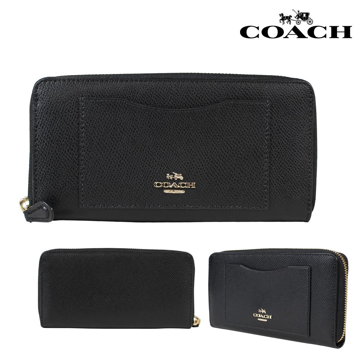 COACH コーチ 財布 長財布 レディース F54007 ブラック 黒