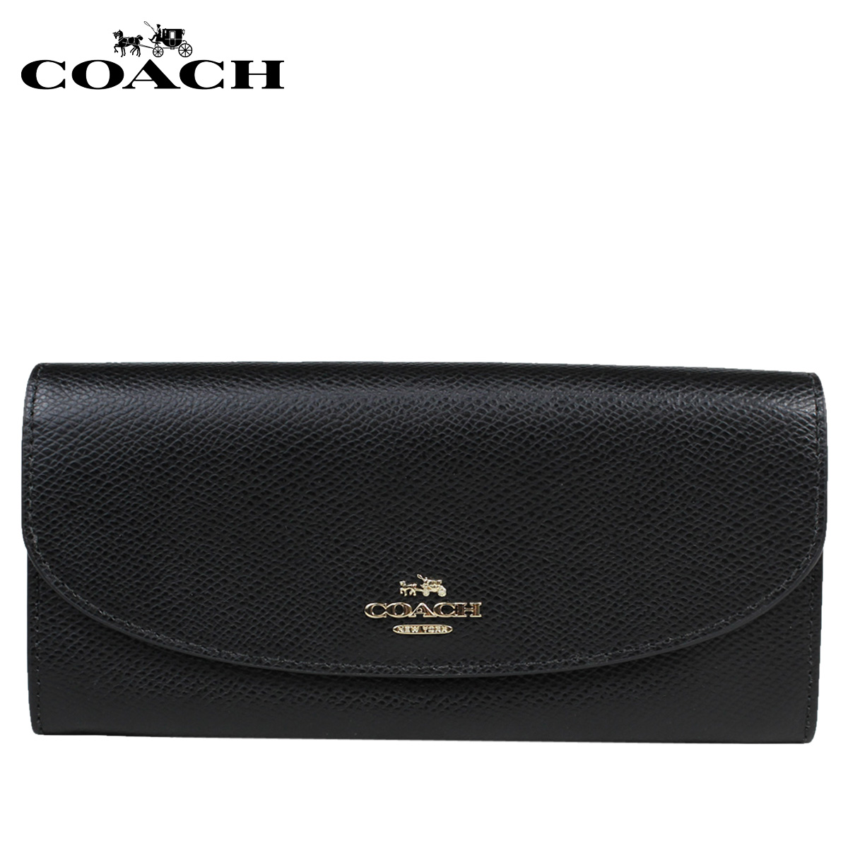 34eaedd5e08dc Sugar Online Shop: COACH coach wallet long wallet F54009 black black ...