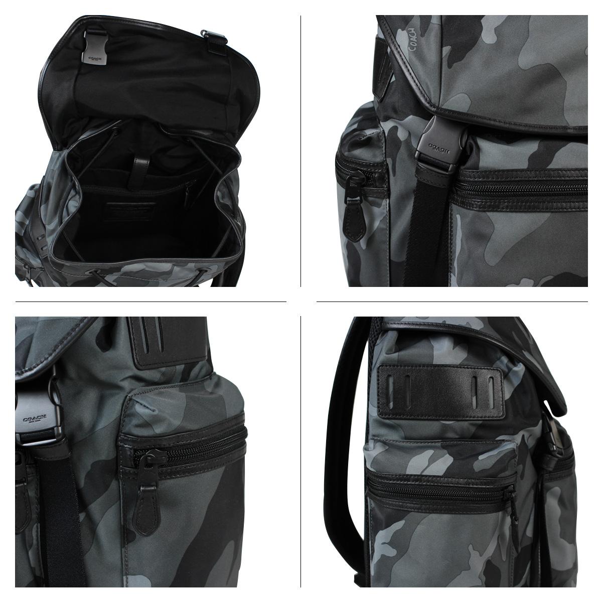 COACH教练人包帆布背包背包F54783灰色伪装