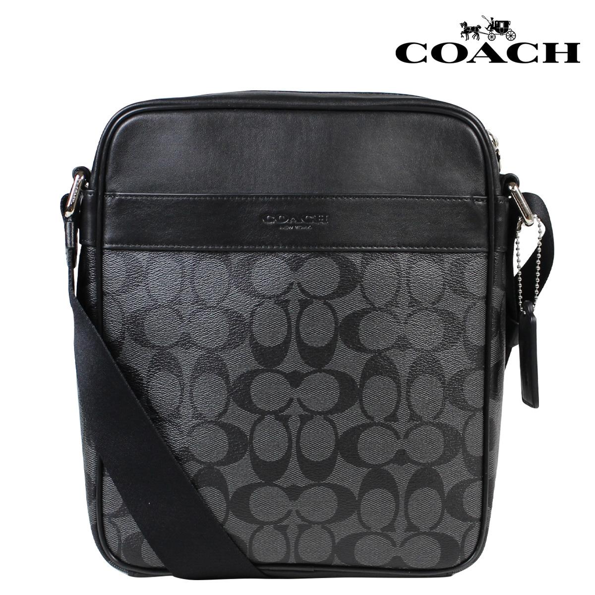 COACH コーチ メンズ バッグ ショルダーバッグ F54788 チャコール×ブラック 黒