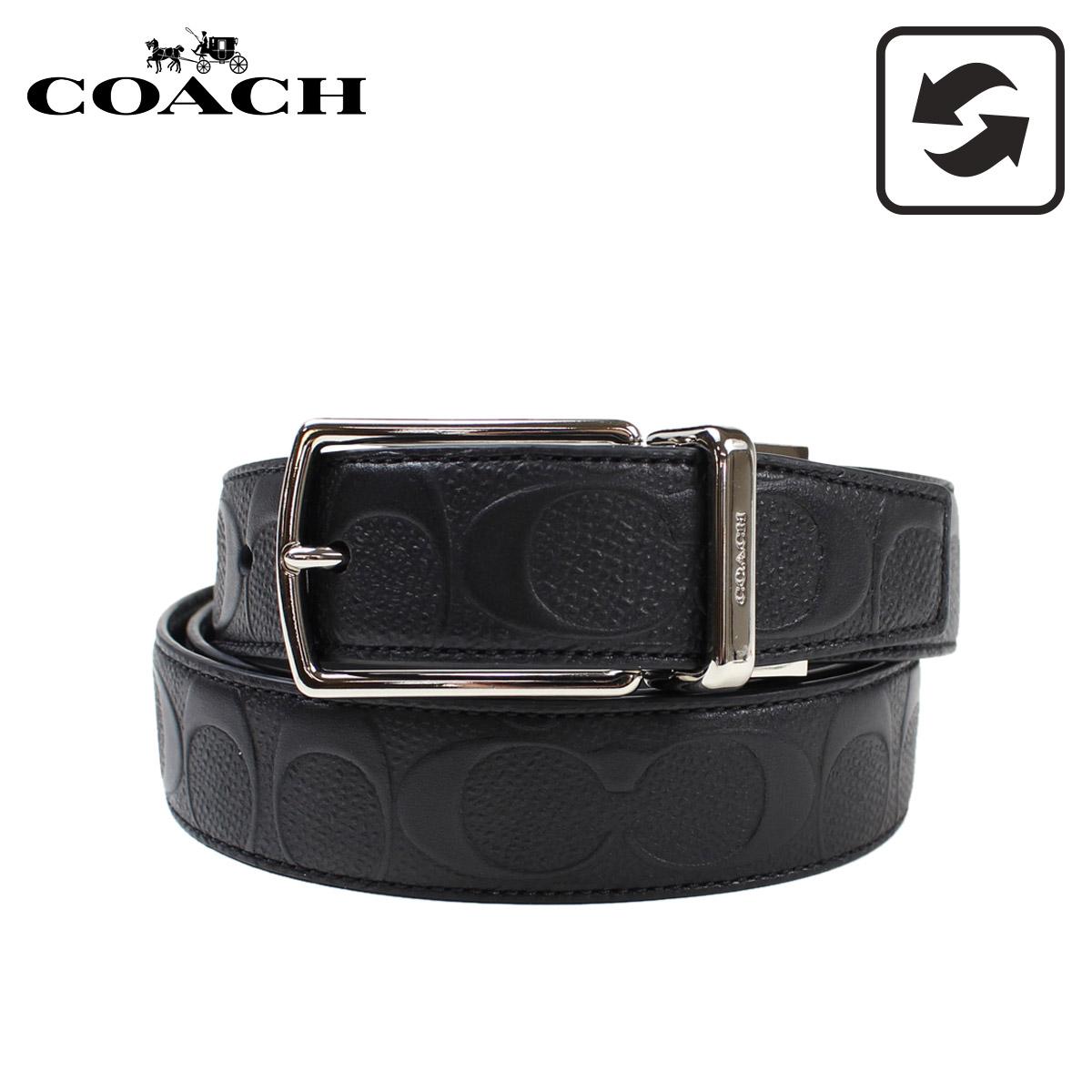 コーチ COACH ベルト メンズ レザー リバーシブル 革 ブラック F55158