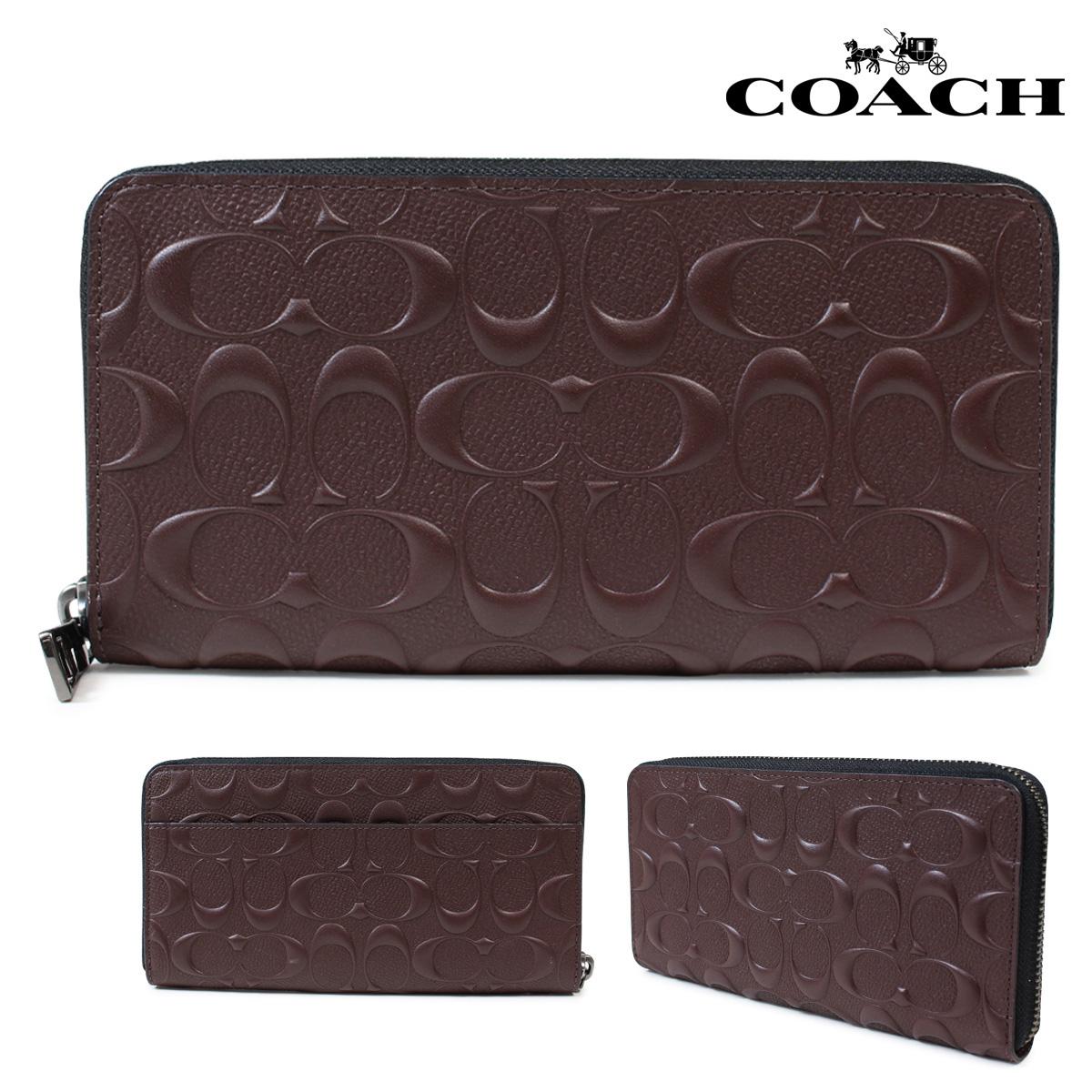 huge discount 2c829 d8917 COACH long wallet men coach wallet F58113 mahogany