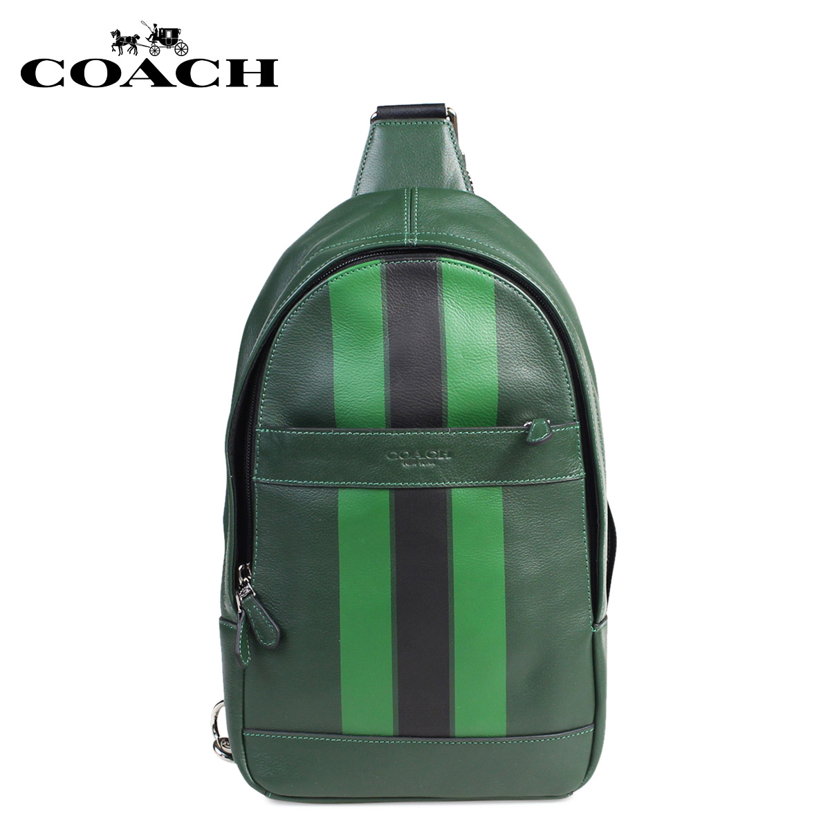 Take a coach coach bag men body bag shoulder bag slant one shoulder 2way f72226 green 7 19 shinnyu load