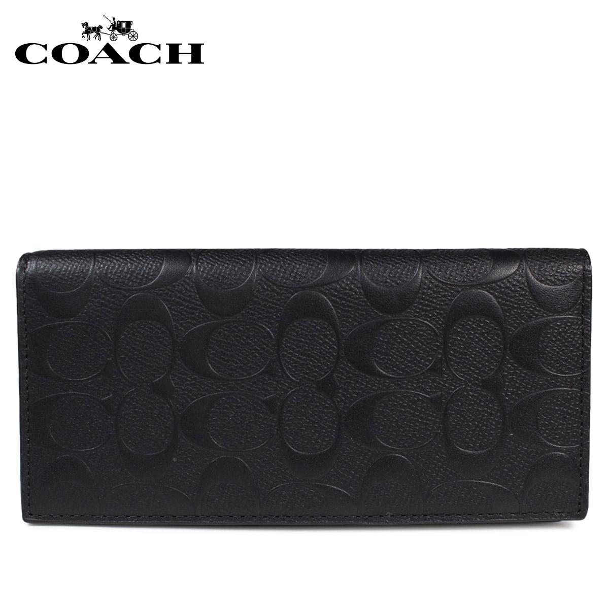 COACH コーチ メンズ 長財布 財布 F75365 ブラック