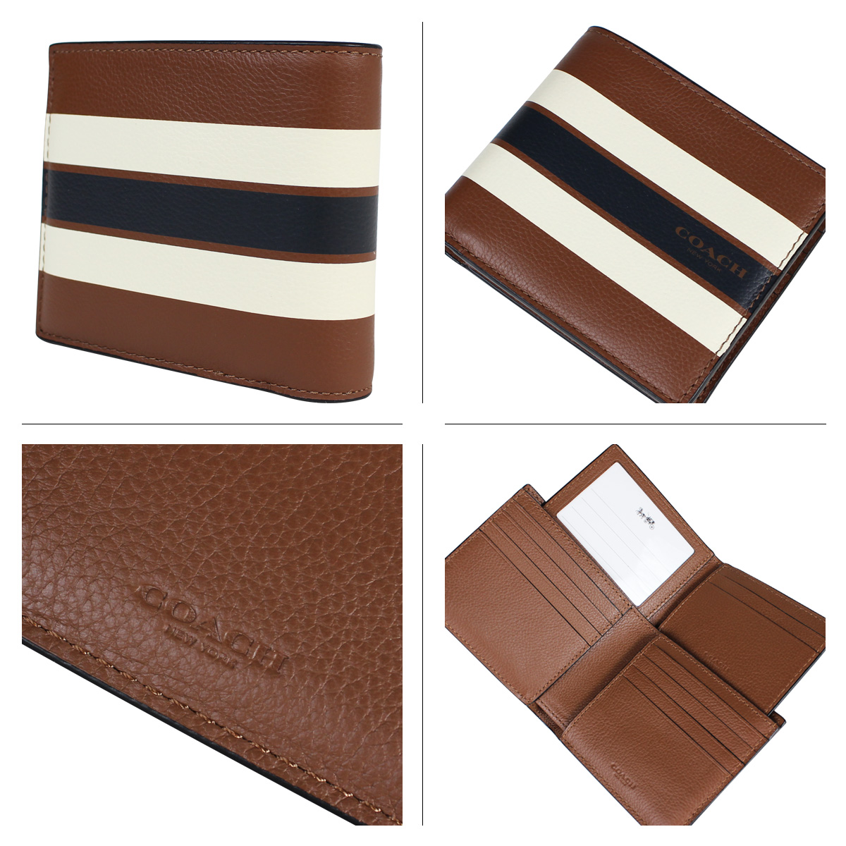 b7915e0c95e2d COACH coach mens wallet two bi-fold wallet ID case F75399 dark saddle  8 23  new in stock