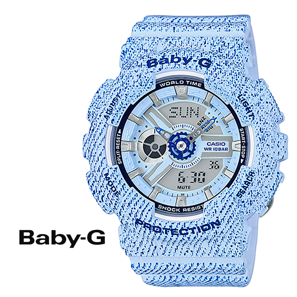 a93d22ec2c50b Sugar Online Shop  Casio CASIO baby-g watches BA-110DC-2 A3JF DENIM D COLOR  baby Ze baby G g-shock women s  9   7 back in stock