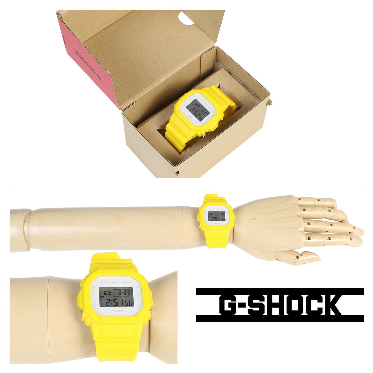卡西欧CASIO手表G-SHOCK 5600男子的钟表DW-5600CU-9JF G打击G打击G-打击女士黄色防水[3/28新进货]