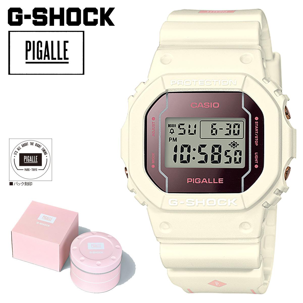 Casio Casio G Shock Watch ピガール Dw 5600pgw 7jr Pigalle ジーショック G Shock G Shock Men Gap Dis White White 8 22 Reentry Load